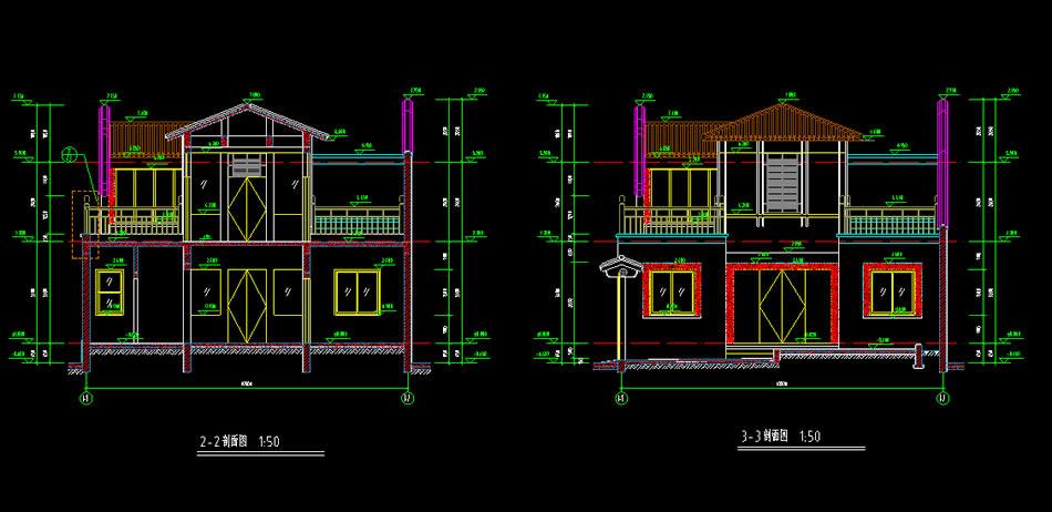 农村四合院设计图二层带小院